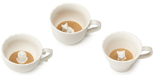 Hidden Animal teacups via Uncommon Goods