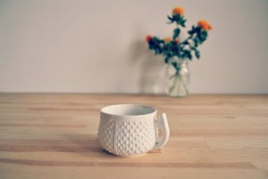 Vintage White Tea Cup via  thesistersoberth @ etsy