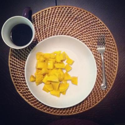 Coffee and Mango