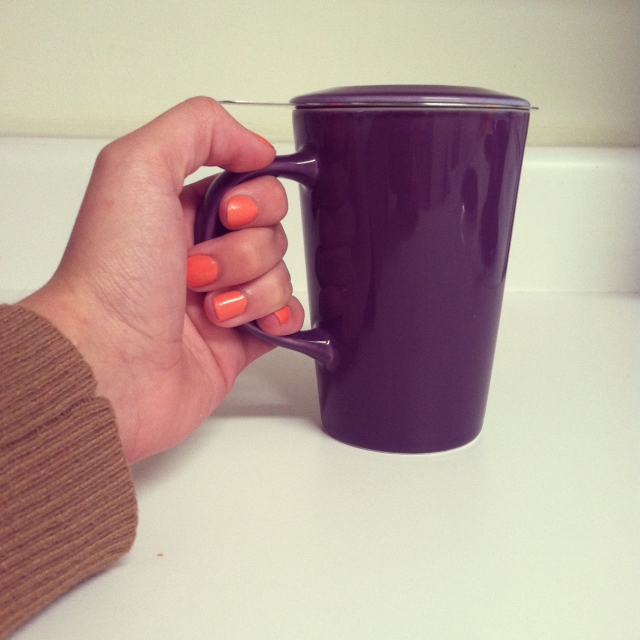Purple Angle Infuser Mug