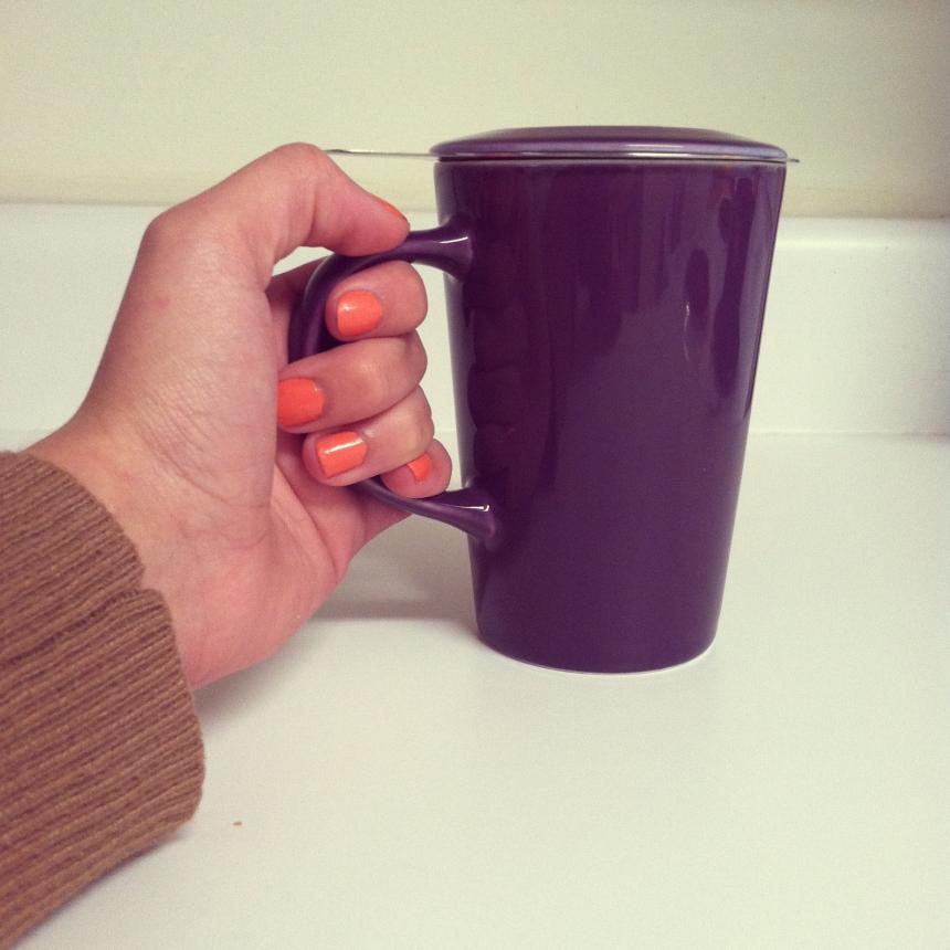 Purple Angle Infuser Mug