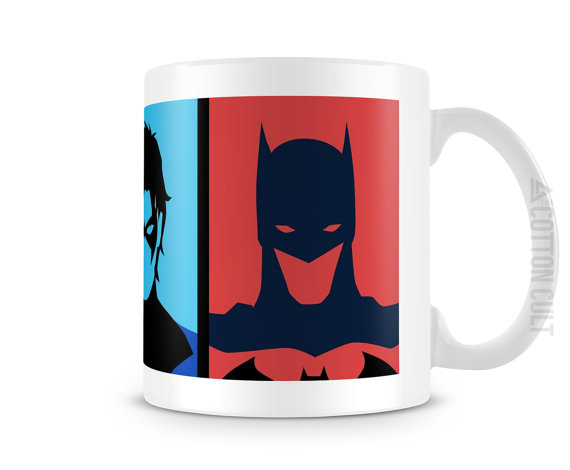 Batman, Robin, and Nightwing Coffee Cup