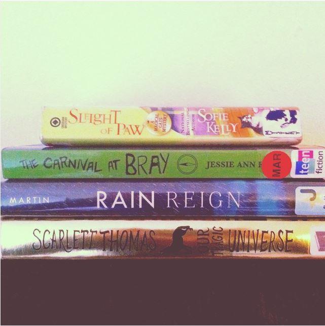 Library loot via the Books & Tea instagram