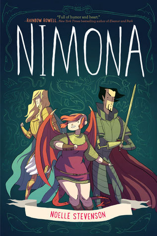 Nimona by Noelle Stevenson book cover