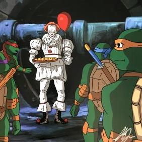It and Teenage Mutant Ninja Turtles Mashup Print