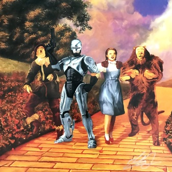 Robocop and the Wizard of Oz mashup print