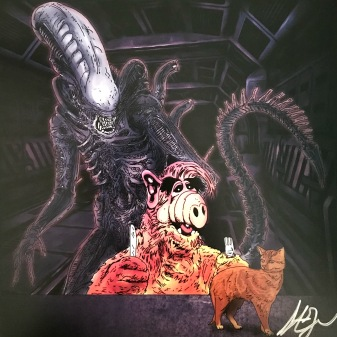 Alf and Alien Mashup Print